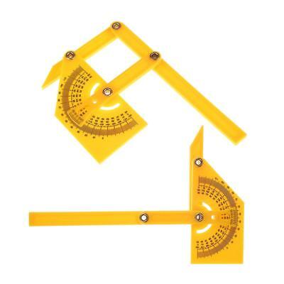 Folding 180°Angle Template Protractor Ruler Measuring Instrument Angle Tool