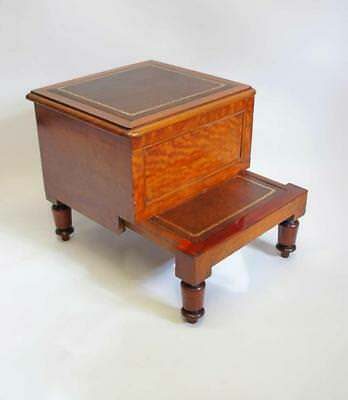 Elegant Victorian Mahogany library step or bed  step commode - refurbished