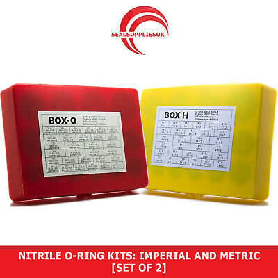 Nitrile 70 O-Ring Kits: Imperial AND Metric - [SET OF 2]