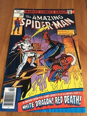 "The Amazing Spider-man 184 ""No Price"" Variant No Sticker All Detergent RARE"