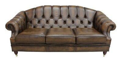 Brand new Victoria 3 Seater Chesterfield Sofa Antique Genuine 100% Leather