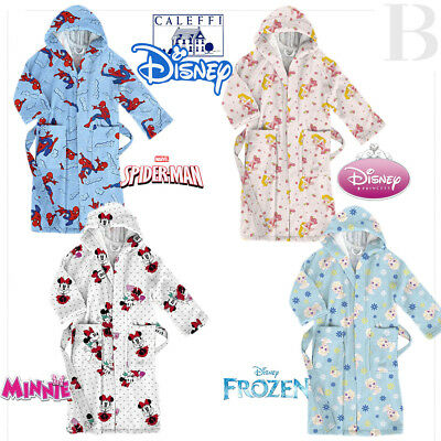 Caleffi Accappatoio Disney Minnie City - Princess Rose - Frozen - Spiderman City