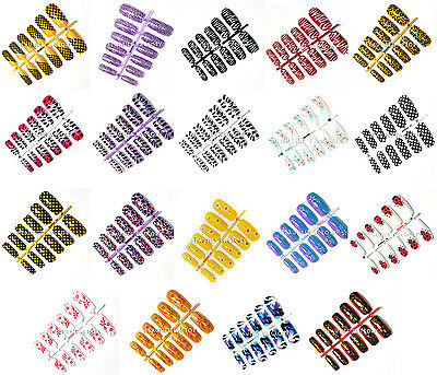 BF Multicolore False Naturel complet style acrylique artificiel art ongles NEUF