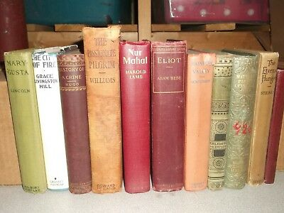 Lot of 11 Antique Collectible Vintage Old Rare Hard To Find Books Unsorted box 3