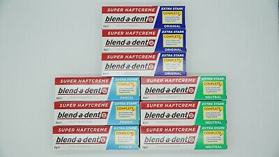blend-a-dent Super Haftcreme - Extra Stark - Original - Neutral 3 x 47g