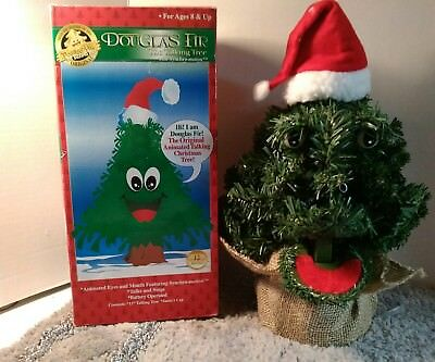 Douglas Fir The Talking Christmas Tree Talks Sings Animated Eyes Mouth Gemmy - DOUGLAS FIR THE