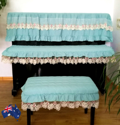 Piano Cover Upright Piano Cotton Dust Cover and Stool Cover NEW