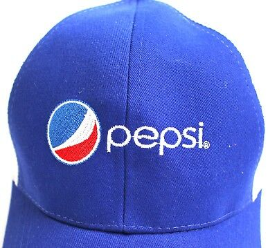 Pepsi Cola RARE Hat Cap Embroidered Snapback Trucker Flaw Mesh Advertising