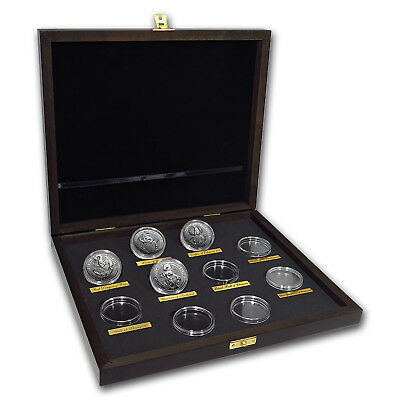 2016-2018 Great Britain 4-Coin 2 oz Silver Queen's Beasts Set - SKU#161350