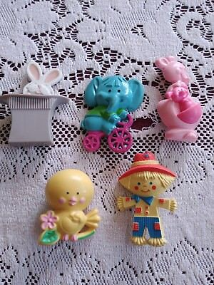 VINTAGE 1975 AVON FRAGRANCE GLACE PIN LOT of 5  PINS