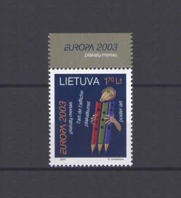 LITHUANIA, EUROPA CEPT 2003, POSTER ART with MARGIN, MNH