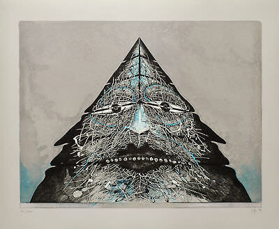Bernhard Jäger, Pyramide II, Colour lithograph, Handsigned, dated, numbered