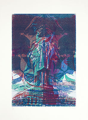 Pol Bury, Statue of Liberty VIII, Colour Lithograph, Handsigned, numbered