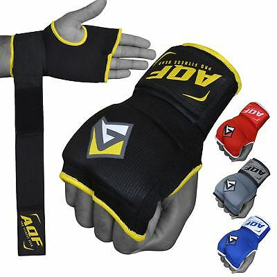 AQF MMA Boxing Quick Wraps Inner Bandages Gel Gloves Muay Thai Stretch V2