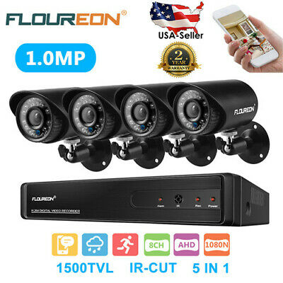 4CH HD MONITOR NVR 1080P Wireless Security Camera System