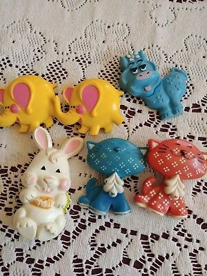 Vintage 70s Avon Fragrance Glace Pin LOT of 6