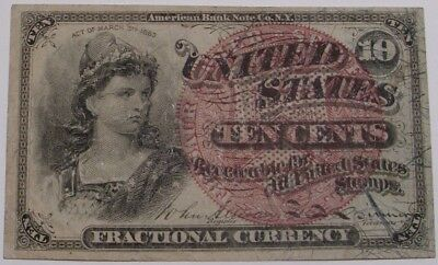 1863 Ten Cent US Fractional Currency
