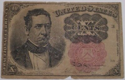 19th Century Ten Cent US Fractional Currency