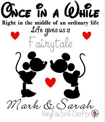 Disney Valentines Anniversary Decals Mickey Minnie Beauty And The Breast Vinyl