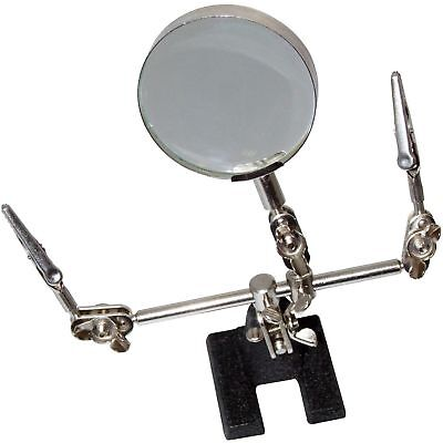 Helping Hand Tool Clips Soldering Iron Craft New Magnifying Glass Crocodile