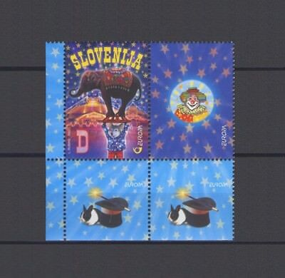 SLOVENIA, EUROPA CEPT 2002, CIRCUS with MARGINS and LABEL, MNH