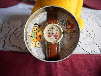 Waltham The Flintstones Watch- 1994- Never Worn  FRED & DINO HANNA BARBERA
