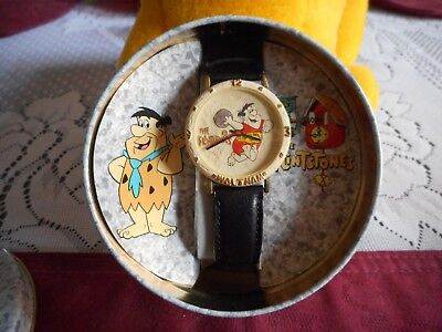 Waltham The FRED Flintstones Watch- 1994- Never Worn IN ORIGINAL TIN CONTAINER