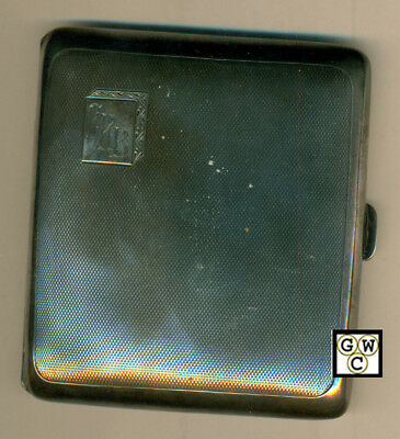 English Made Sterling Silver 1915 Birmingham Cigarette Case,Wt. 93gm (OOAK)