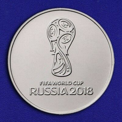 25 Rubles Russian coin - FIFA 2018 WORLD CUP RUSSIA - FREE SHIPPING