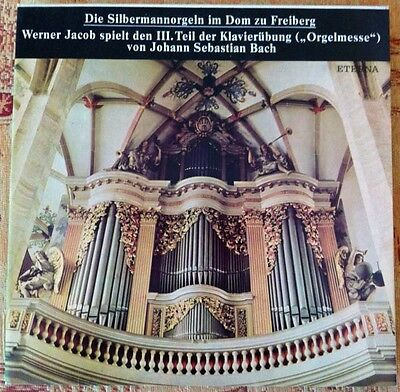 BACH Orgelmesse Silbermannorgel Dom Freiberg Werner Jacob 2LP Stereo Eterna 1978