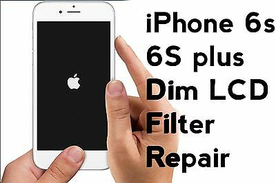 Backlight service iPhone 6s 6s + dim LCD filter replacement micro soldering