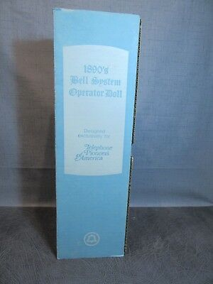 1890 Bell Telephone Operator Doll Advertising Telephone Pioneers of America MIB