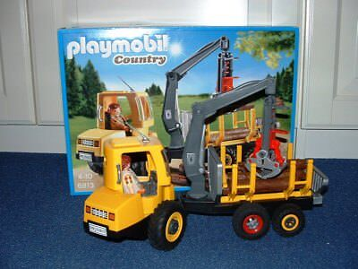 @ Playmobil Country #6813 Holztransport mit Kran - wie NEU in OVP @