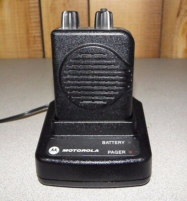 Motorola Minitor V (5) Two Channel VHF Stored Voice SV Pager FREE Programming