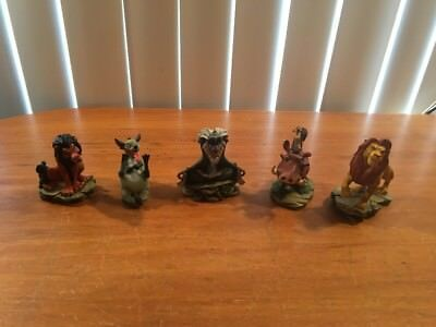 5 Lion King Figures By Enesco Scar Simba Pumbaa Rafiki Timon Hyena