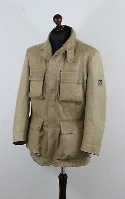 BELSTAFF Douglas Mens Leather GOLD Label  Jacket Blazer tags XXL Fits on M - L