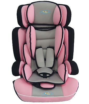 3 in1 Child Baby Car Seat & Booster Seat Age 9 Month To 12 Years ECE R44/04 Pink