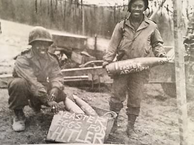 WWII Photo Print Black African American Soldiers Easter Eggs For Hitler 10 x 8