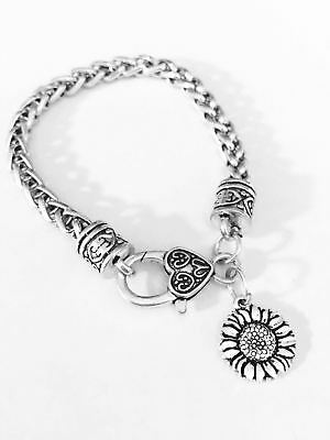 Sunflower Charm Bracelet Flower Best Friend Sister Friendship Mom Gift