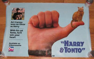 """ART CARNEY Harry & Tonto HUGE WALL POSTER 34.5""""x23"""" acceptable!"""
