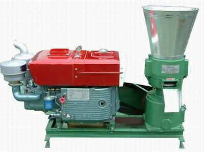 15hp Diesel powered Pellet Mill w/electric start. USA In Stock. Free Shipping!