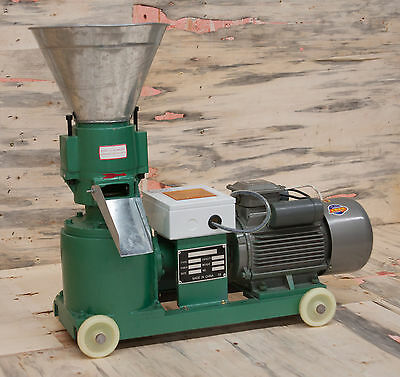 """5"""" 4hp 3kw 220v Three Phase Biomass Pellet Mill. In stock USA. Free Shipping!"""