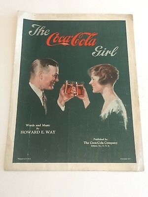 Vintage 1927 The Coca Cola Girl Sheet Music RARE
