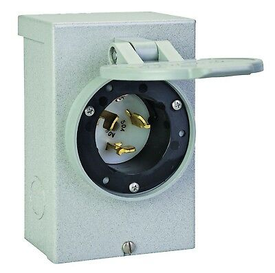 Reliance Controls Corporation PB50 50-Amp NEMA 3R Power Inlet Box, 50-Amp for...
