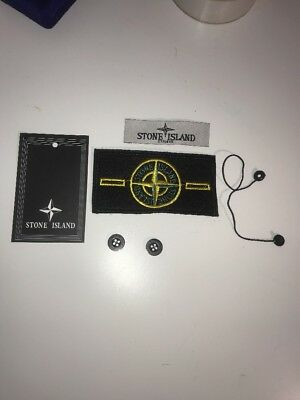 Stone Island Replacement Badge tags and label and buttons Supreme,cp Company,