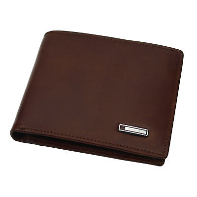 New Genuine Leather Mens Wallet ZIPPER Purse Vintage Retro Style
