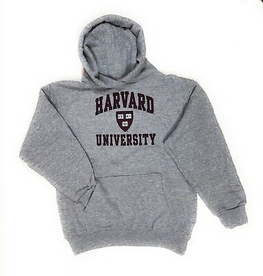 Harvard Crimson Crest Logo Pullover Hoodie Youth Sizes: S-M-XL NWT Made in USA.