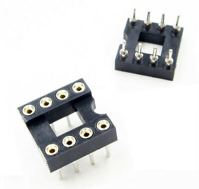 10pcs 8Pin DIP-8 SIP Round IC Sockets Solder Type BBC
