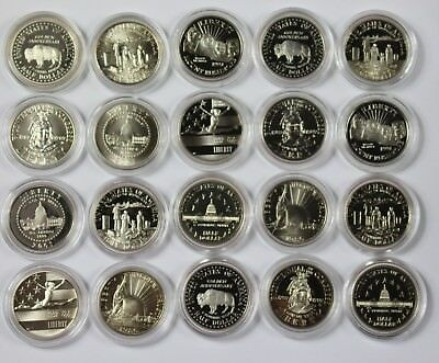 Lot of 20x Mixed Date Commemorative Half Dollars Roll Unc Proof US Coins P1R