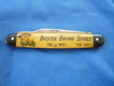 Vintage Buster Brown Shoes for Boys & Girls Folding Pocket Knife Canton Cutlery
